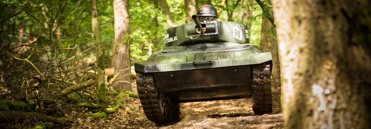 De enige minitank / paintball tank van Nederland