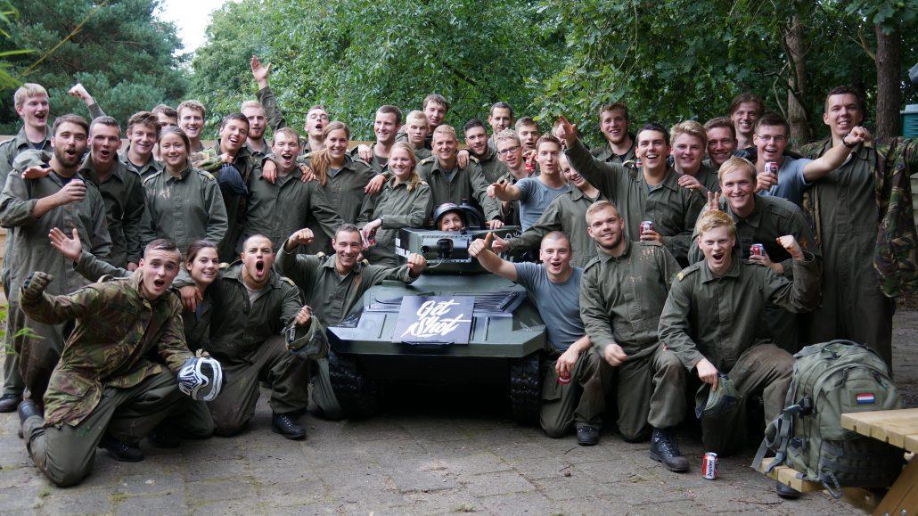 Teamuitje KMA Breda paintball en minitank