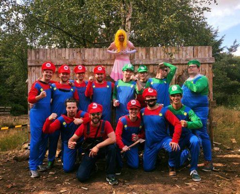 Vrijgezellenfeest Mario thema